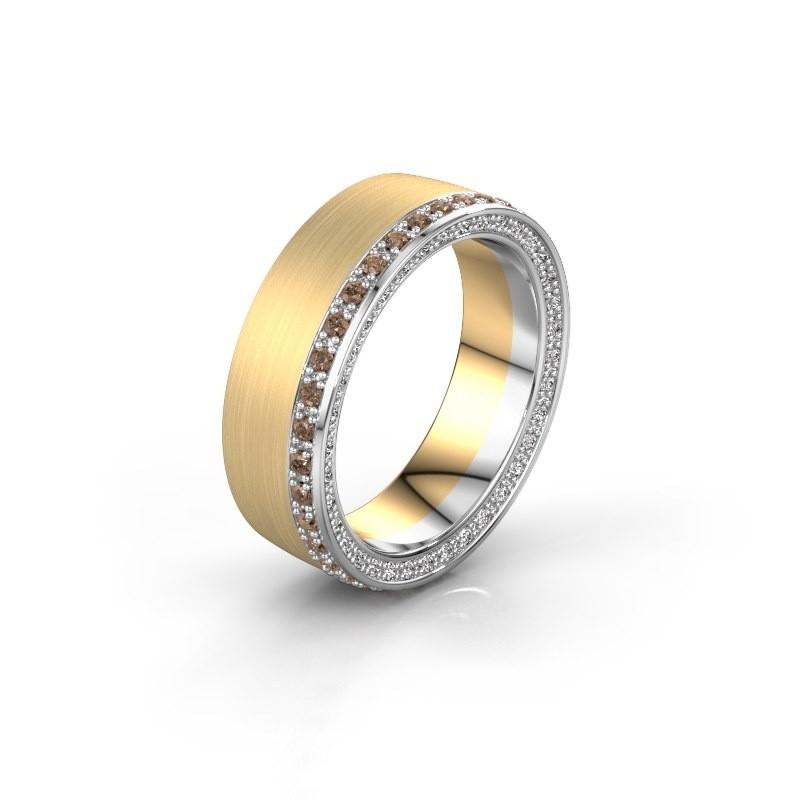 Trouwring WH2224L26C8 585 goud bruine diamant 0.54 crt ±6x2.2 mm
