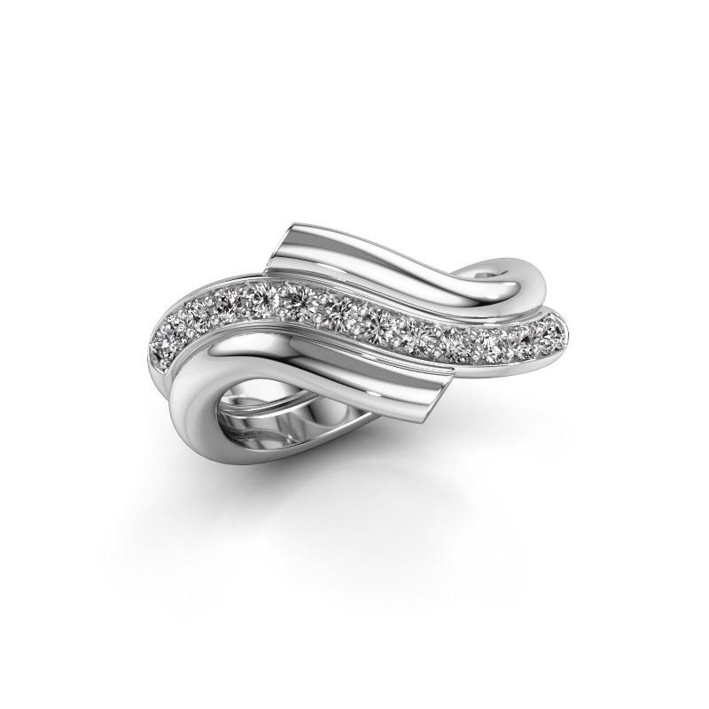 Ring Guusje 585 white gold zirconia 1.8 mm