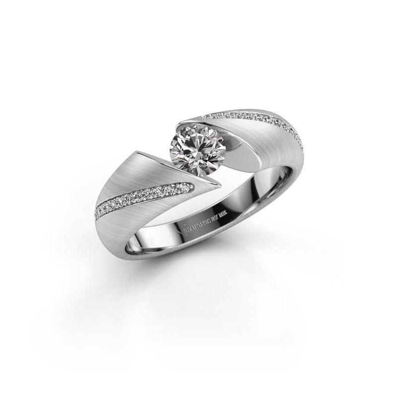 Verlovingsring Hojalien 2 925 zilver diamant 0.62 crt
