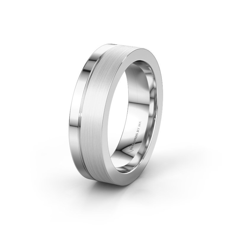 Wedding ring WH0313M16B 585 white gold ±0.24x0.1in