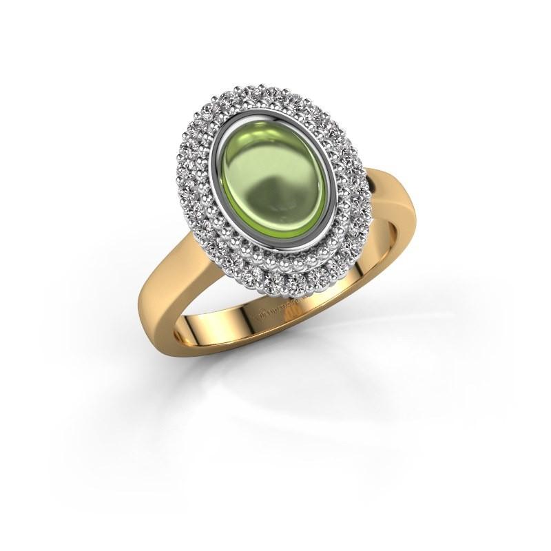 Ring Maartje 585 goud peridoot 8x6 mm