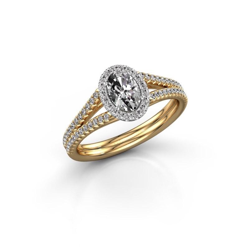 Engagement ring Verla ovl 2 585 gold diamond 0.83 crt