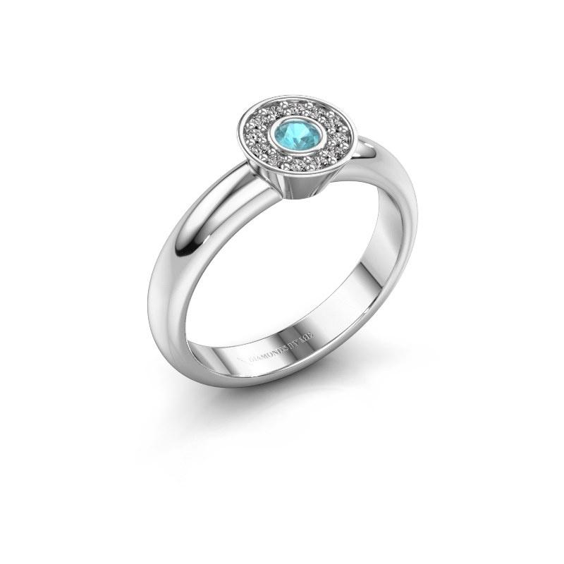 Ring Fiene 925 silver blue topaz 2.8 mm