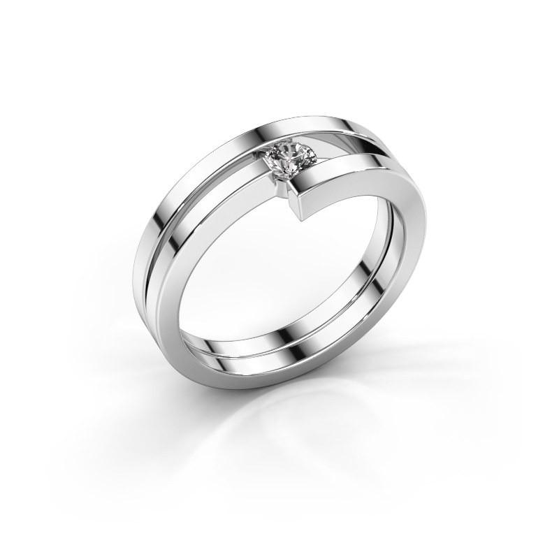 Ring Nikia 925 zilver lab-grown diamant 0.15 crt