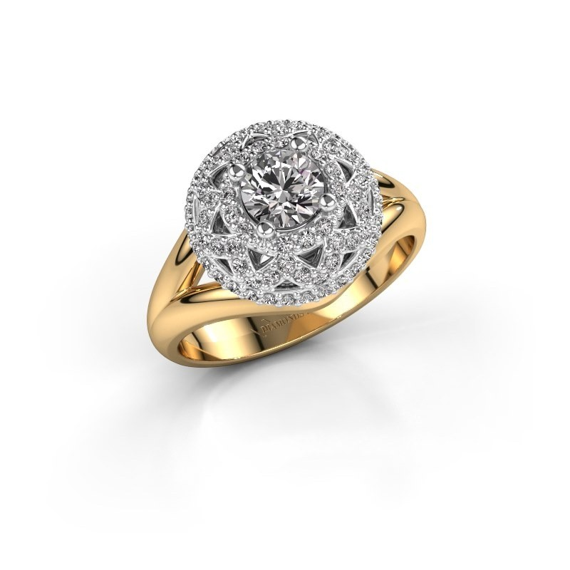 Ring Leonora 585 goud zirkonia 5 mm