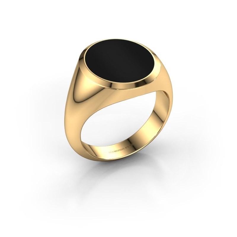 Zegelring Herman 5 585 goud onyx 15x13 mm