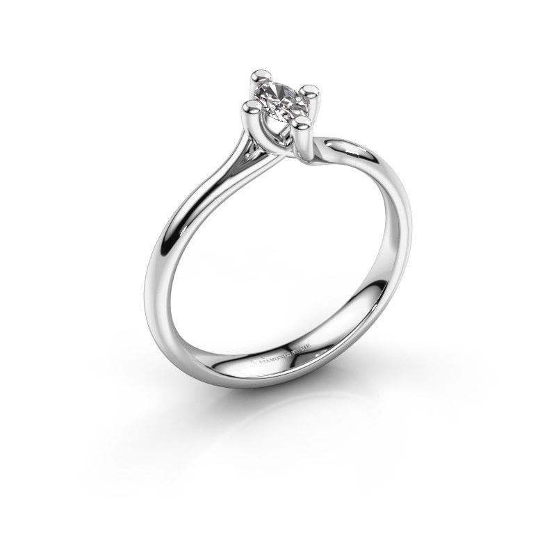 Engagement ring Dewi Oval 585 white gold diamond 0.23 crt