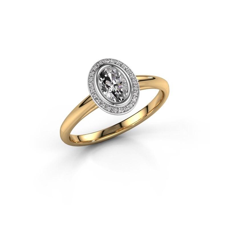 Verlovingsring Noud 1 OVL 585 goud zirkonia 6x4 mm