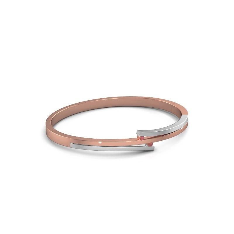 Armband Roxane 585 rosé goud robijn 2 mm