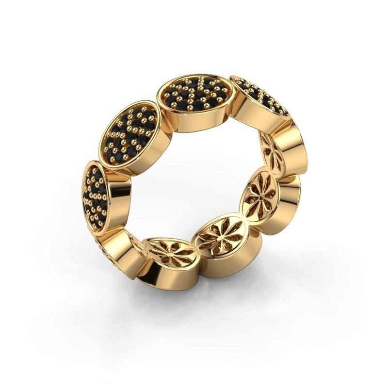 Ring Robin 375 goud zwarte diamant 1.134 crt