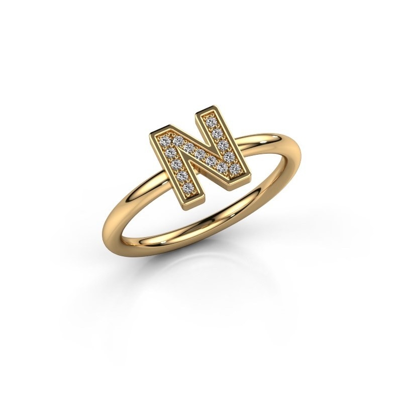 Ring Initial ring 110 585 gold