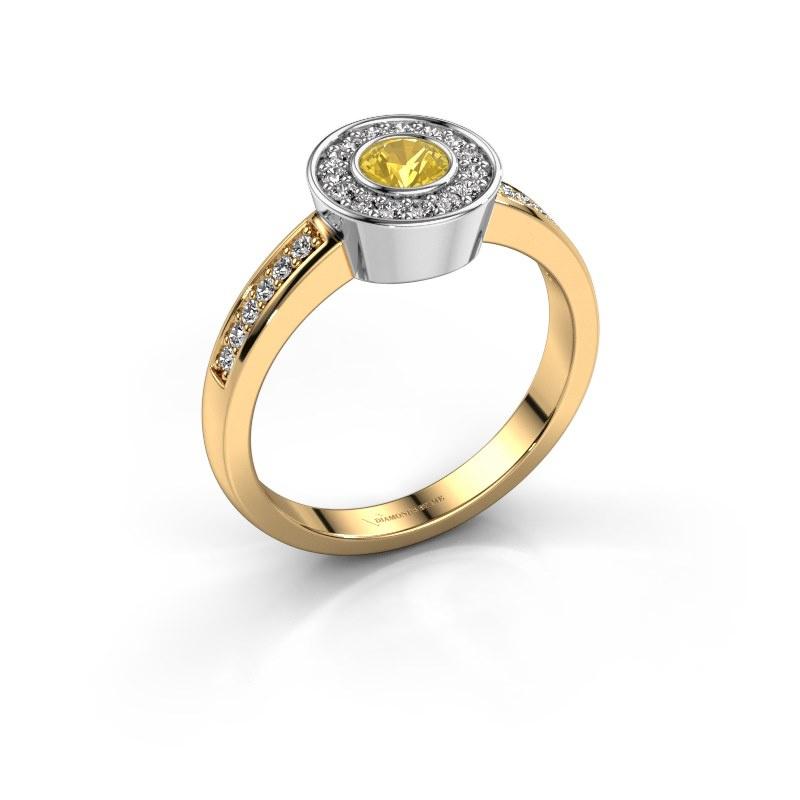 Ring Adriana 2 585 gold yellow sapphire 4 mm
