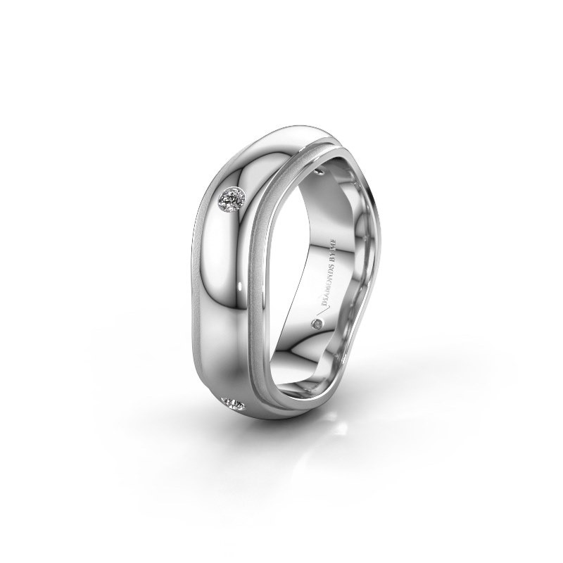 Trouwring WH2050L26DP 925 zilver diamant ±6x2.4 mm