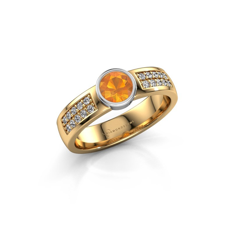 Engagement ring Ise 3 585 gold citrin 4.7 mm