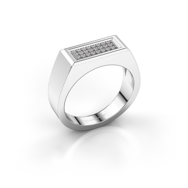 Men's ring Dree 6 950 platinum zirconia 1.1 mm