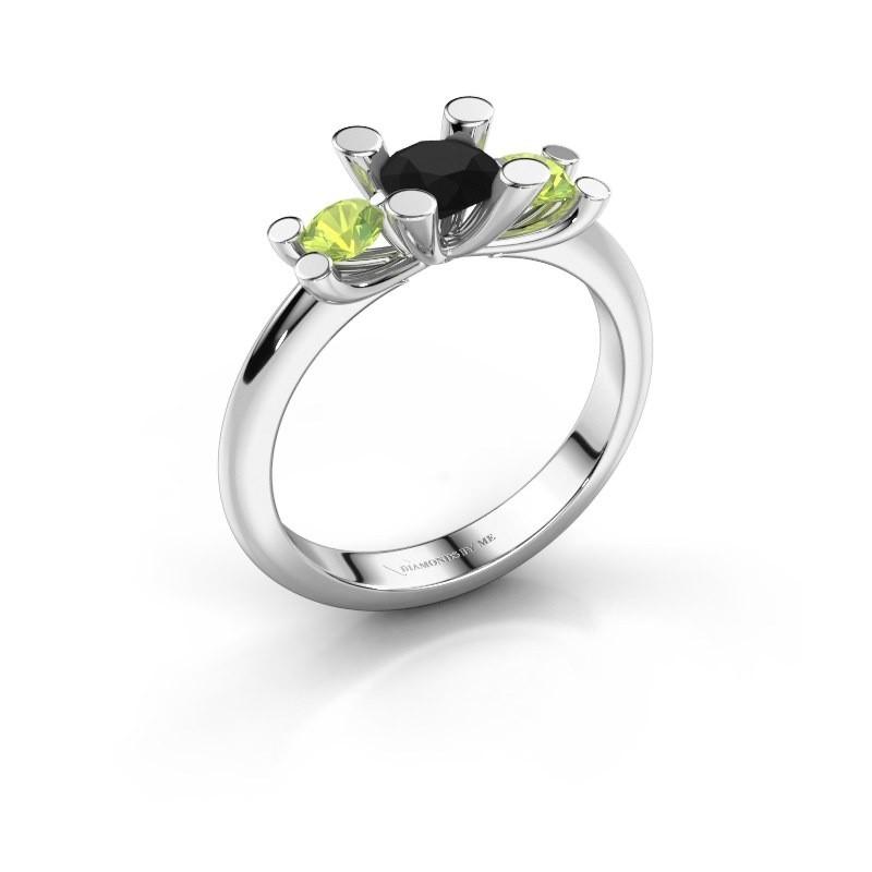Bague Mirthe 585 or blanc diamant noir 0.60 crt