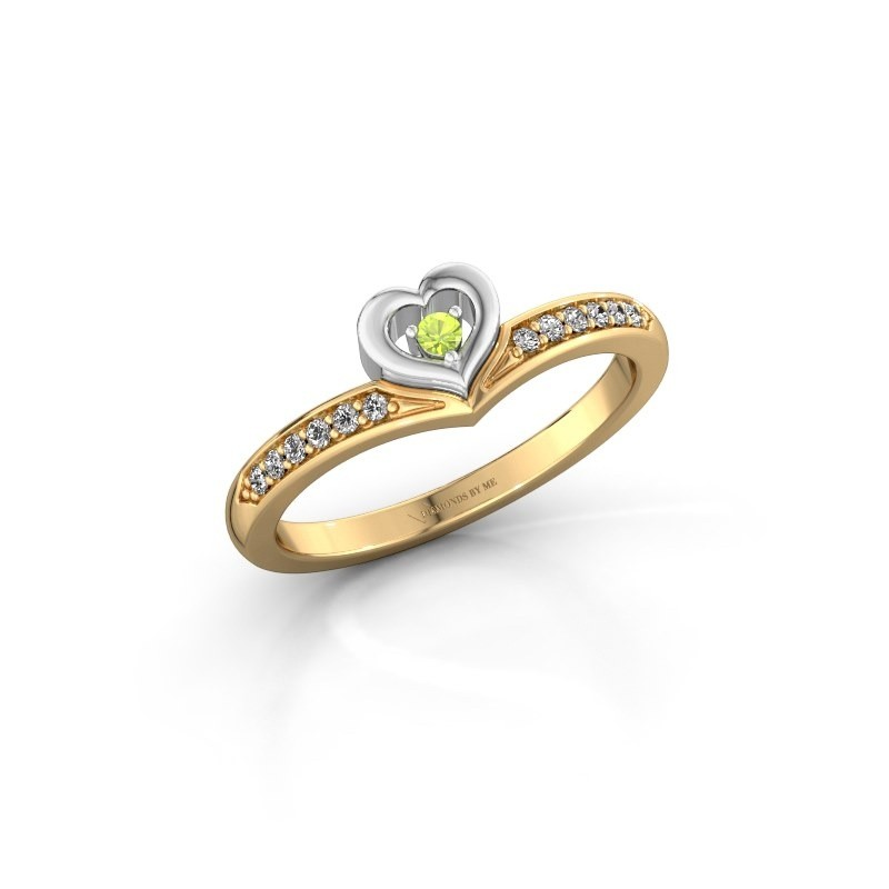 Ring Mimi 585 goud peridoot 2 mm