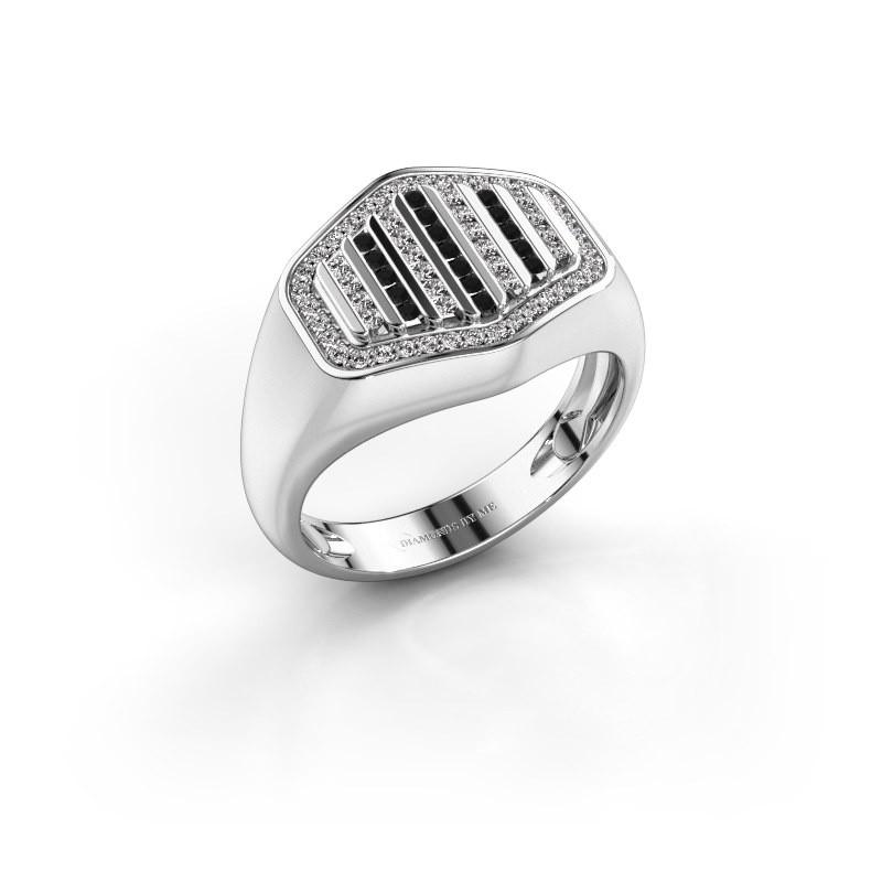 Men's ring Beau 585 white gold diamond 0.408 crt