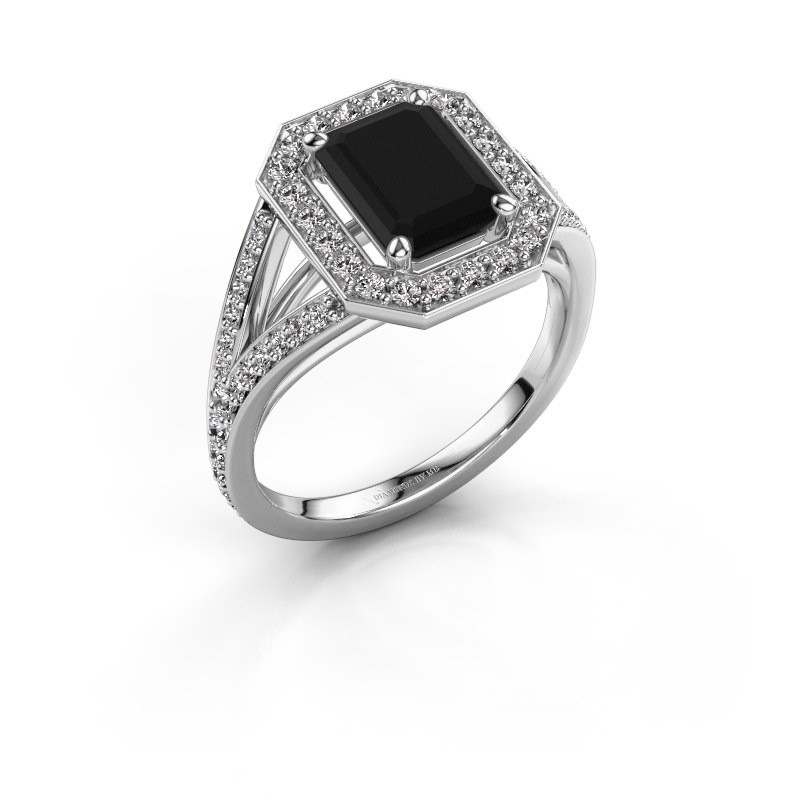 Promise ring Angelita EME 950 platina zwarte diamant 2.629 crt