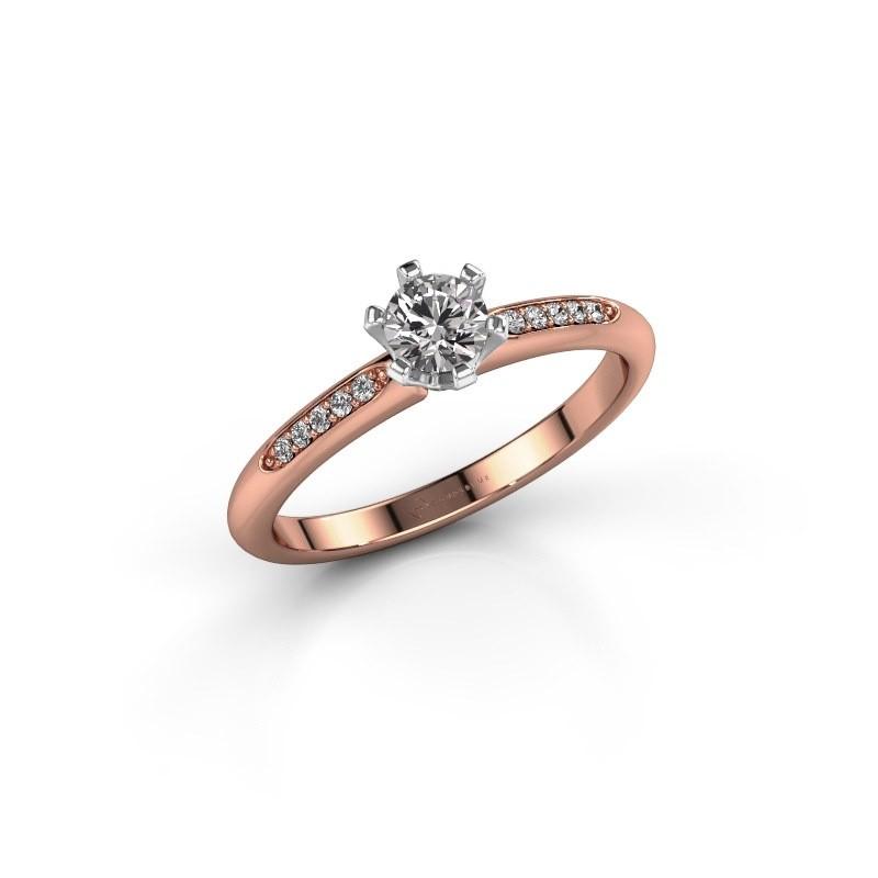 Verlobungsring{ucf Tiffy 2 585 Roségold Diamant 0.30 crt