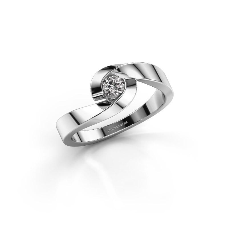 Verlovingsring Sheryl 585 witgoud lab-grown diamant 0.20 crt