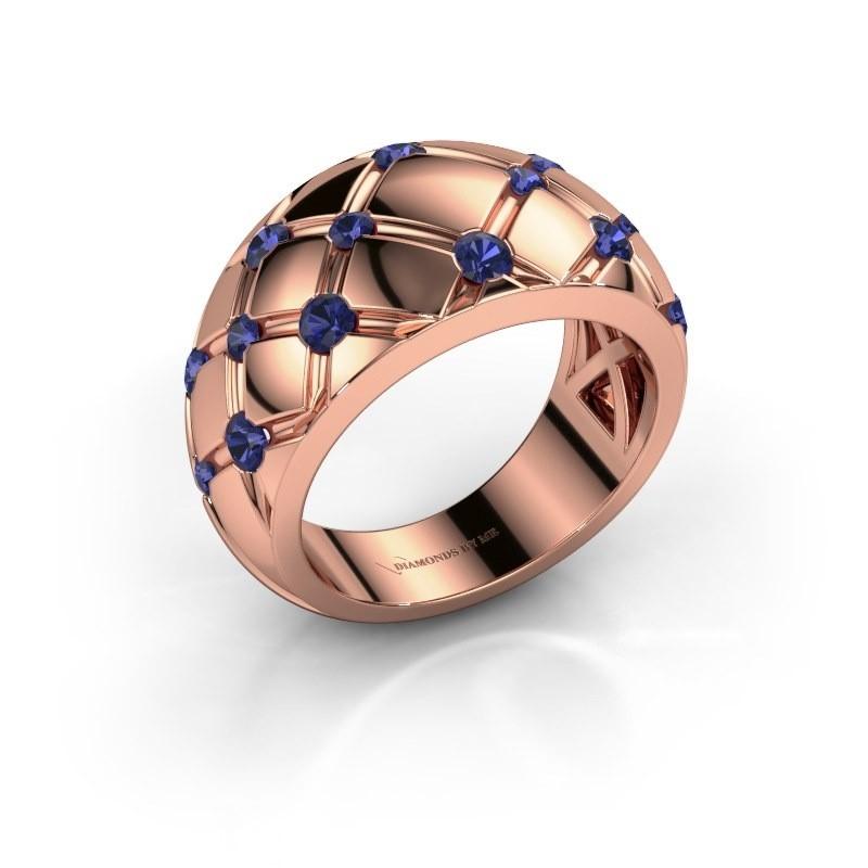 Ring Imke 375 Roségold Saphir 2.5 mm