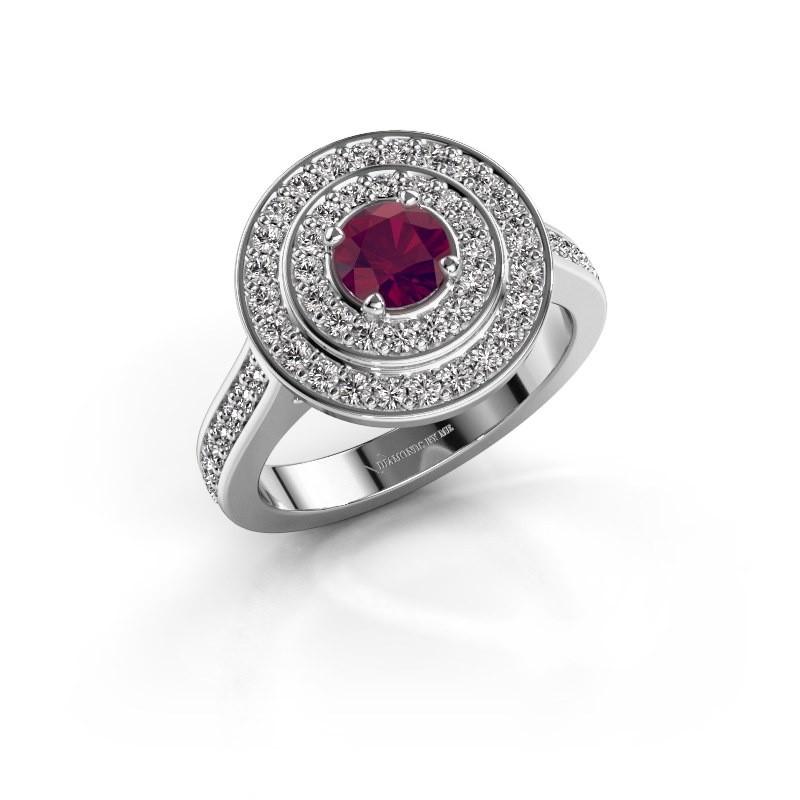Ring Alecia 2 925 zilver rhodoliet 5 mm