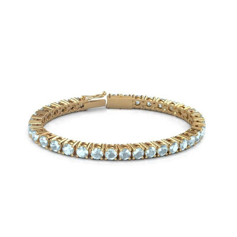 Tennisarmband Ming 375 goud aquamarijn 5 mm