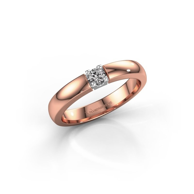 Engagement ring Rianne 1 585 rose gold lab-grown diamond 0.10 crt