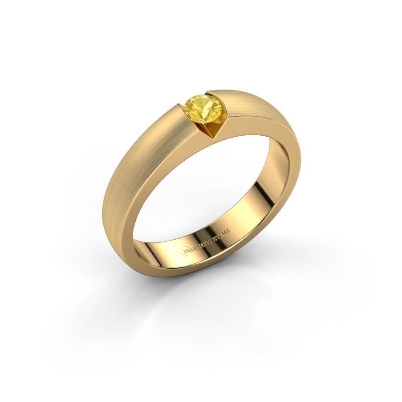 Verlobungsring Theresia 375 Gold Gelb Saphir 3.4 mm