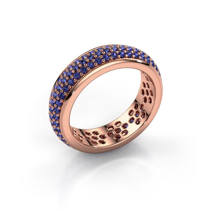 Ring Tara 585 rosé goud saffier 1.3 mm