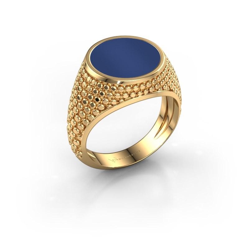 Zegelring Zachary 2 585 goud lapis lazuli 12 mm