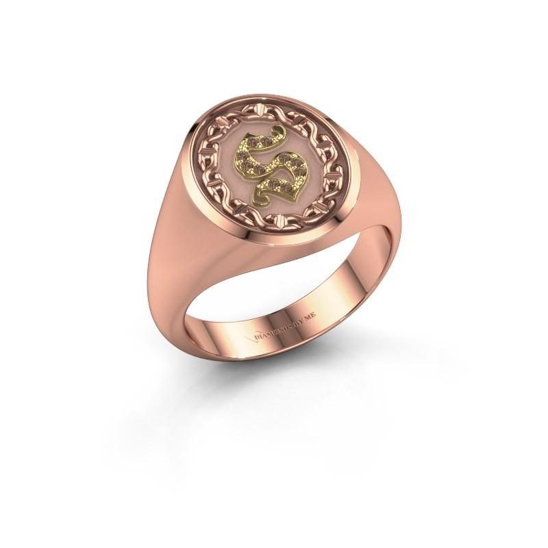 Men's ring Ruan 585 rose gold brown diamond 0.05 crt