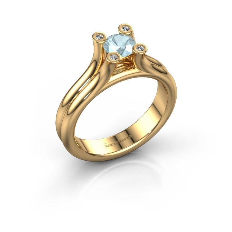 Engagement ring Stefanie 1 585 gold aquamarine 5 mm