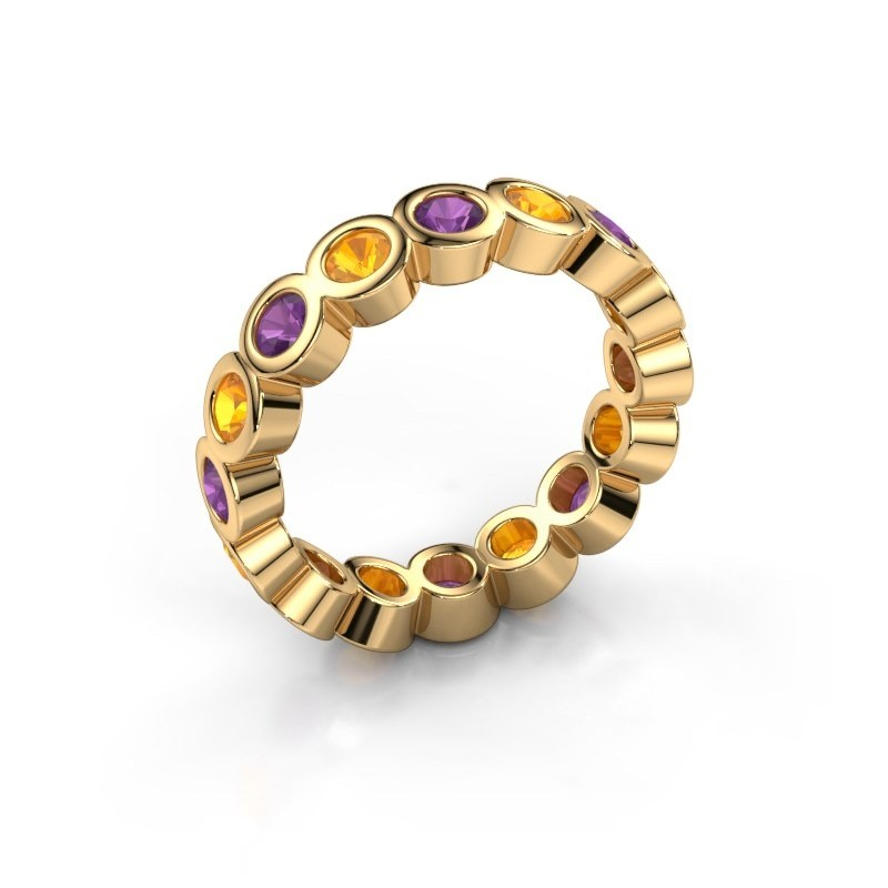 Stackable ring Edwina 3 375 gold amethyst 3 mm