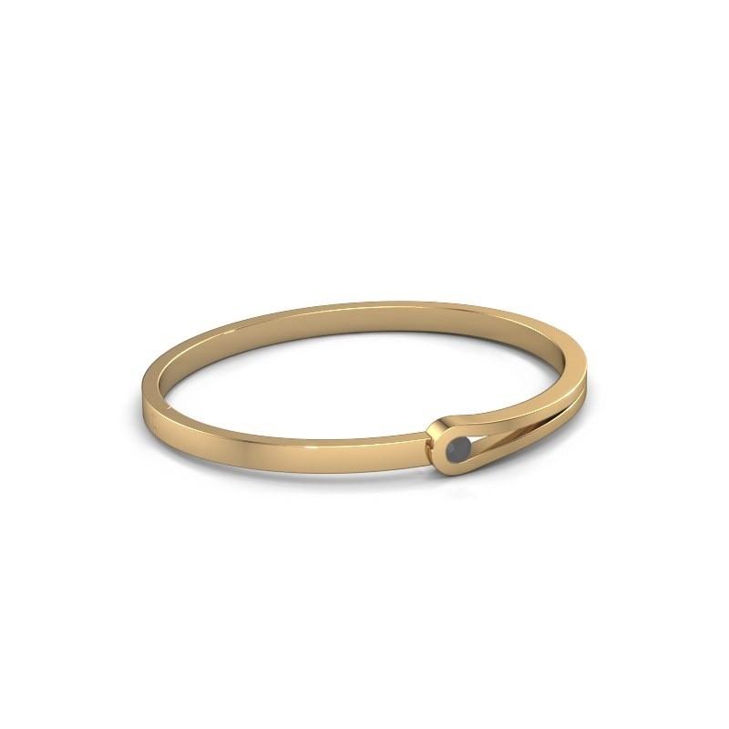 Slavenarmband Kiki 585 goud zwarte diamant 0.30 crt