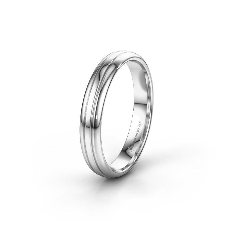 Wedding ring WH0400M34AP 925 silver ±4x1.7 mm
