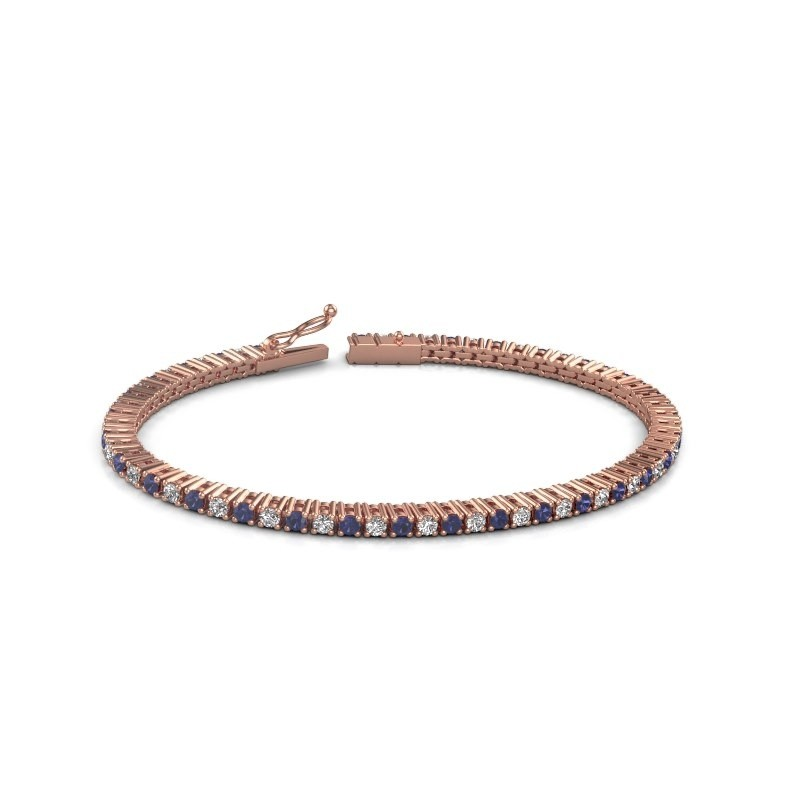 Tennis bracelet Karisma 375 rose gold sapphire 2.4 mm