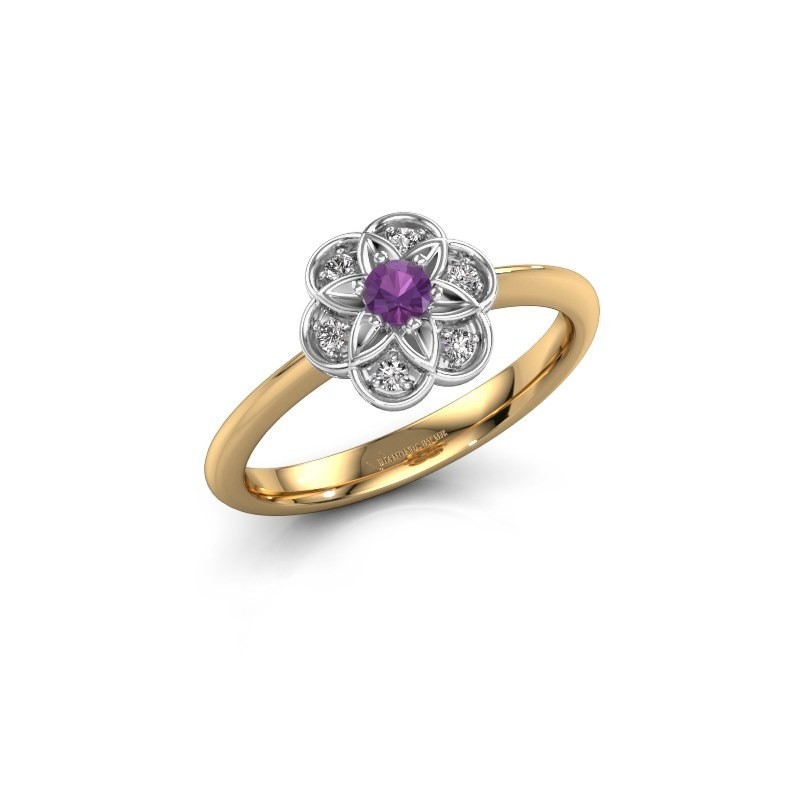 Engagement ring Uma 585 gold amethyst 3 mm