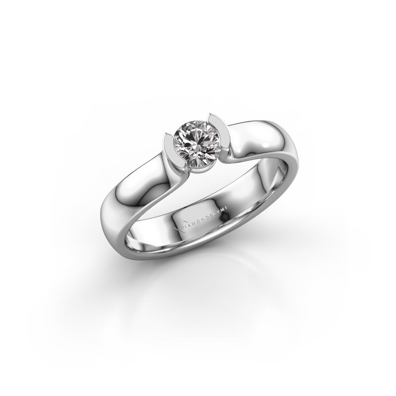 Verlovingsring Ophelia 925 zilver diamant 0.30 crt