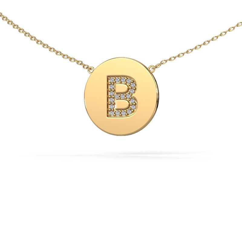 Initial pendant Initial 050 375 gold
