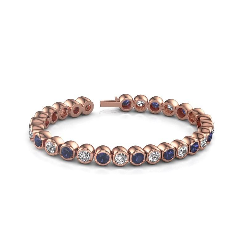 Tennisarmband Bianca 5 mm 375 rosé goud diamant 7.00 crt