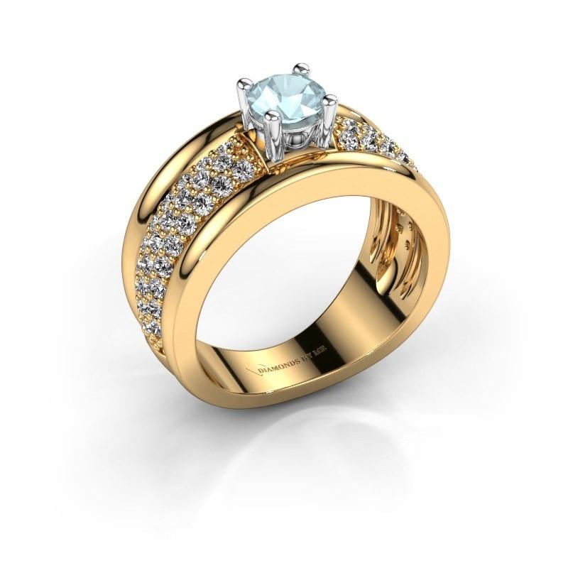 Ring Alicia 585 Gold Aquamarin 5 mm