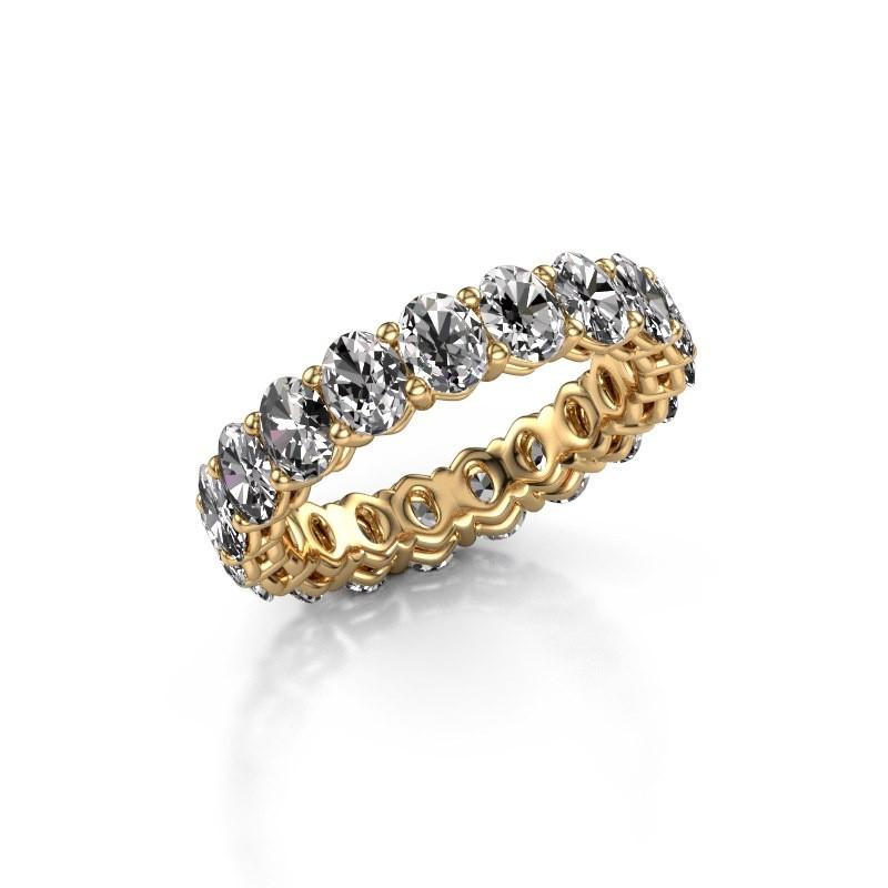 Aanschuifring Heddy OVL 3.5x4.5 375 goud lab-grown diamant 3.990 crt