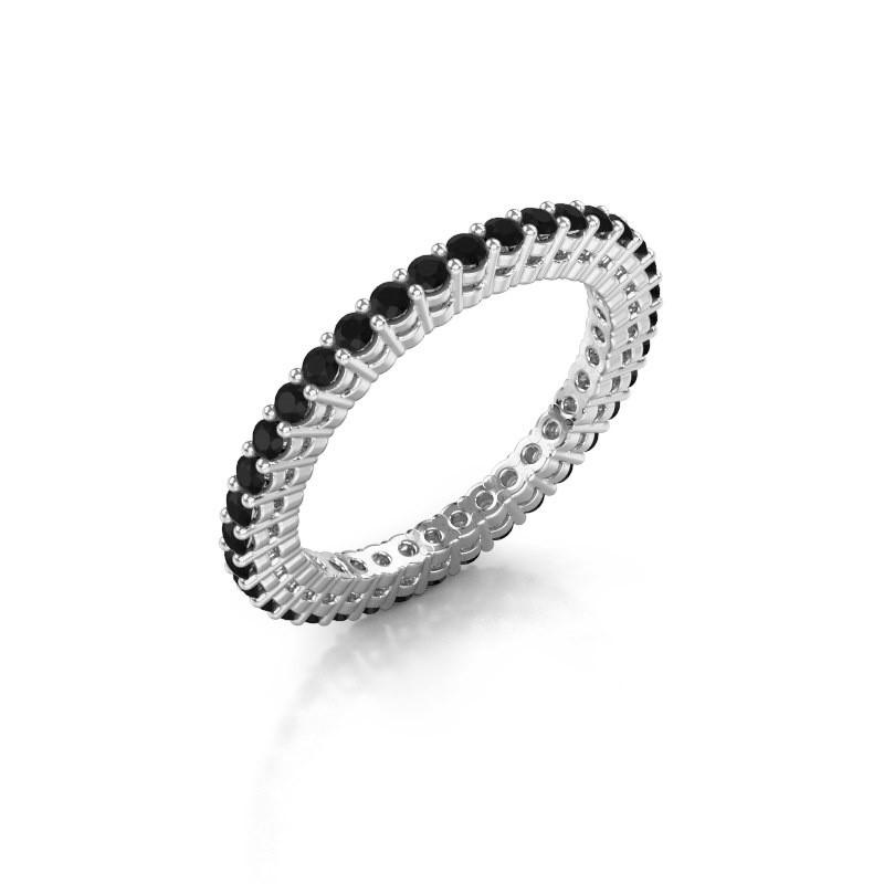 Aanschuifring Rufina 2 925 zilver zwarte diamant 0.864 crt