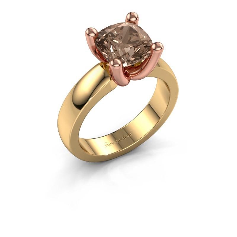 Ring Clelia CUS 585 gold brown diamond 3.00 crt