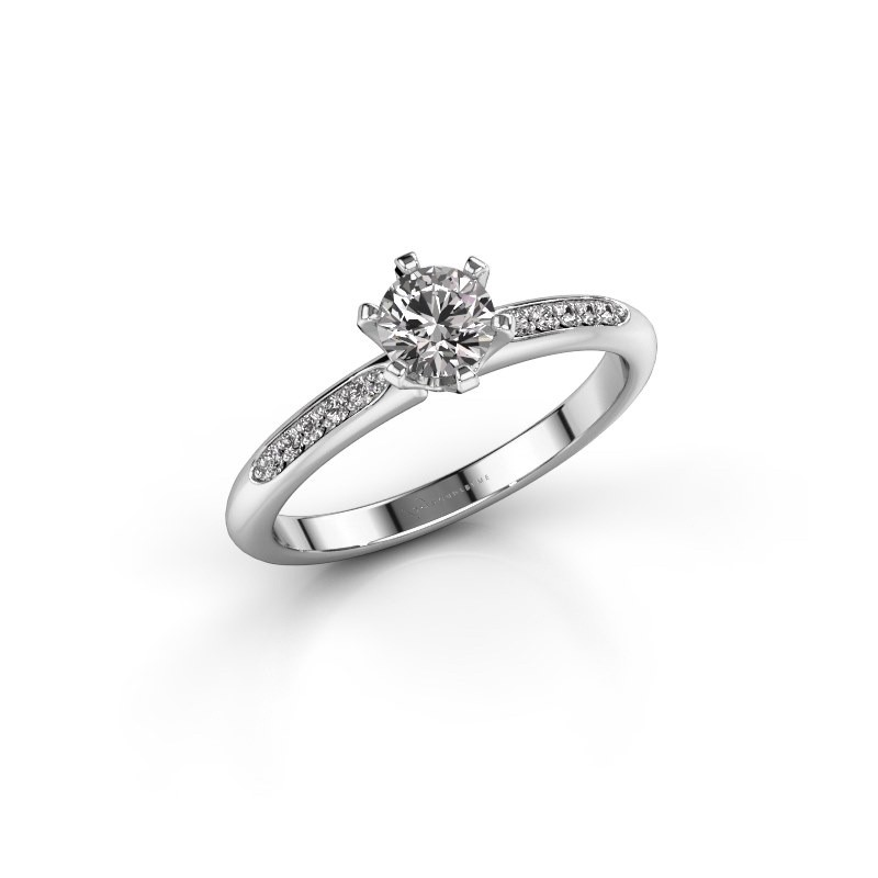 Engagement ring Tiffy 2 585 white gold diamond 0.40 crt