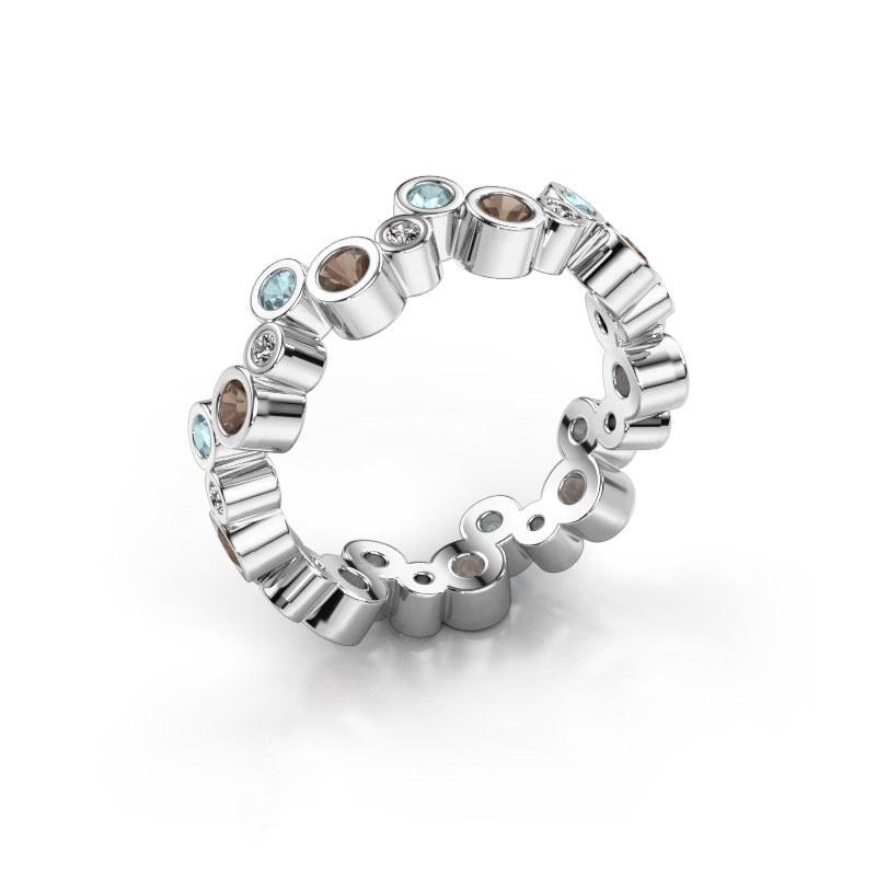 Ring Tessa 925 zilver rookkwarts 2.5 mm