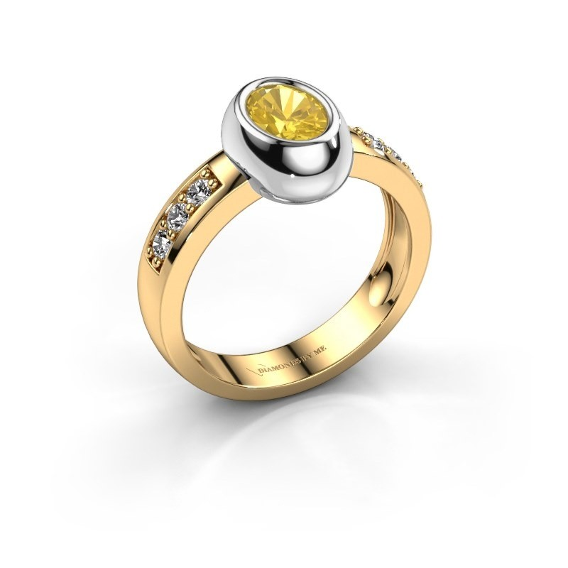 Ring Charlotte Oval 585 Gold Gelb Saphir 7x5 mm