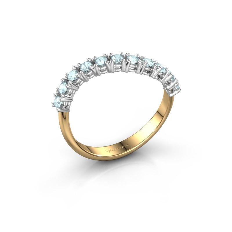 Ring Eliza 585 goud aquamarijn 2 mm